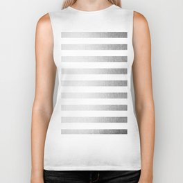Simply Striped Moonlight Silver Biker Tank
