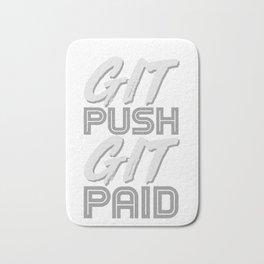 Git Push Git Paid Humor ASCII and Git Lover Coding Humor Programmer Gift Bath Mat