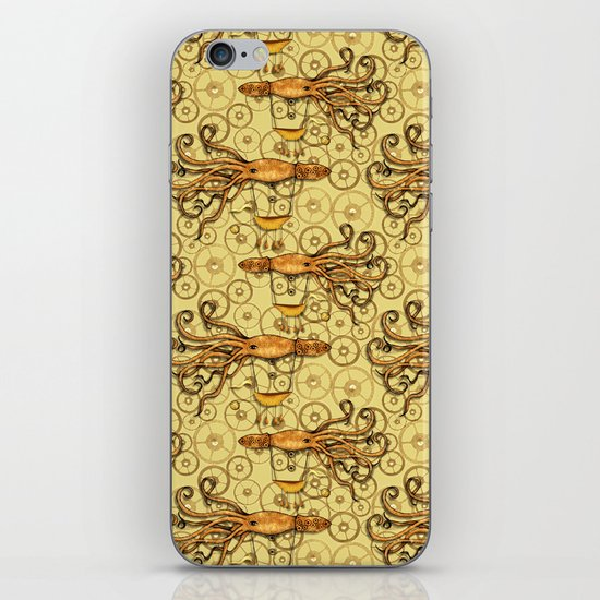 Steampunk Squid Transport iPhone & iPod Skin