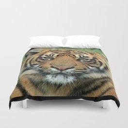 Graceful Gaze 🐾 Bengal Tiger Duvet Cover