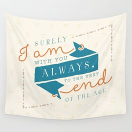 """""""I am with you"""" Bible Verse Print Wall Tapestry"""