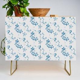Blue Jasmine Burlap Print Credenza
