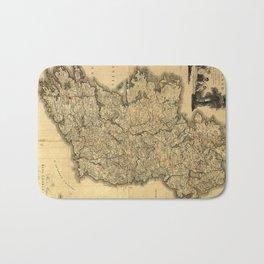 Vintage Map of Ireland (1797) Bath Mat