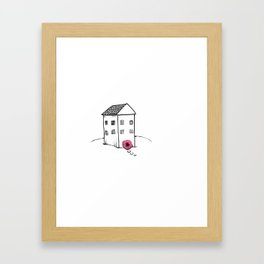 House with Butthole Door Framed Art Print