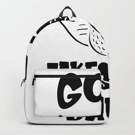 Funny Saying Golf Golfer Backpack