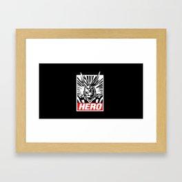 All Might - Hero Framed Art Print