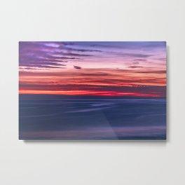 Creamy Good Malibu Sunset Metal Print