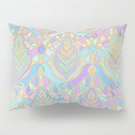 Jade & Blue Enamel Art Deco Pattern Pillow Sham