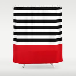 Rouge Rayures Shower Curtain