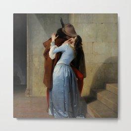 The Kiss by Francesco Hayez Metal Print