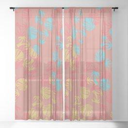 Tropic tracks Sheer Curtain