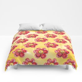 Red Flower Comforters