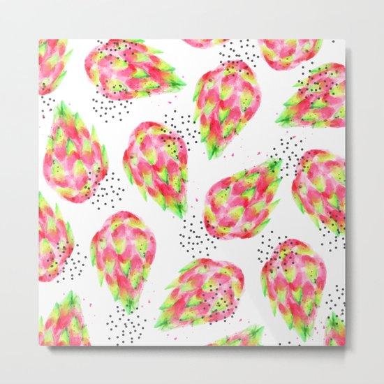 Dragon Fruit #society6 #decor #pattern Metal Print