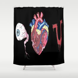 Eye Bloody Love you Shower Curtain