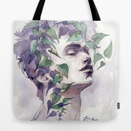 A man with ivy, watercolor portrait Tote Bag