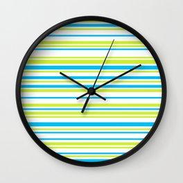 Stripes on white Wall Clock