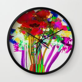 Belle Anemoni or Beautiful Anemones Wall Clock
