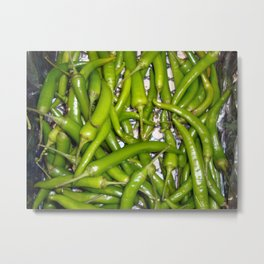 Fresh food in the supermarket Metal Print