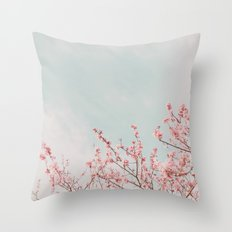 Waving in the Sky Throw Pillow