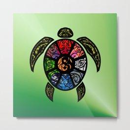 Bagua Turtle Metal Print