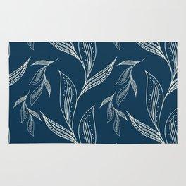 Indigo Foliage #society6 #pattern #indigo Rug