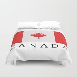 flag canada Duvet Cover