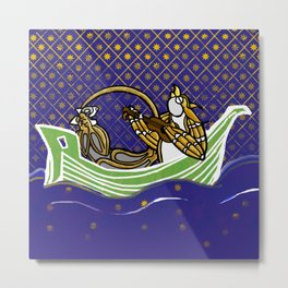 Owl & Pussycat Sailboat Manuscript version Metal Print