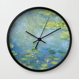 Water Lilies 1906 by Claude Monet Wall Clock