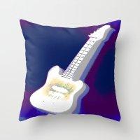 guitar Throw Pillows featuring Guitar by Vitta
