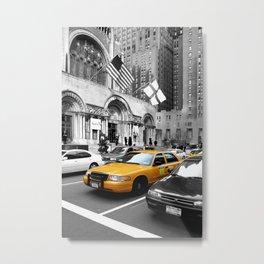 NYC Yellow Cabs Avenue - USA Metal Print