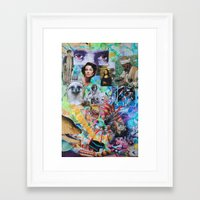 neil young Framed Art Prints featuring Neil Young by John Turck