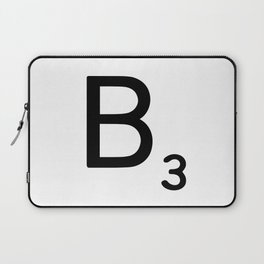 Letter B - Custom Scrabble Letter Wall Art - Scrabble B Laptop Sleeve