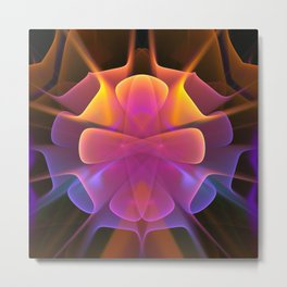 Curves and Colors, geometric abstract Metal Print