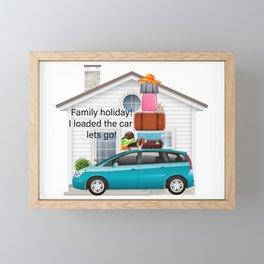 Family Holiday! Framed Mini Art Print