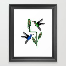 Geohummingbirds Framed Art Print