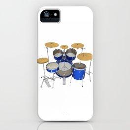 Blue Drum Kit iPhone Case