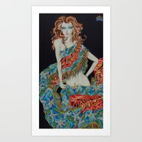 The Scarf Art Print
