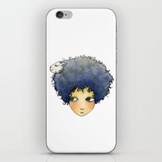 the girl with lamb hair iPhone & iPod Skin