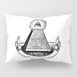 the Eye of Providence from the Great seal of America  All seeing Eye us dollar money cash Pyramid Pillow Sham
