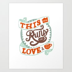 Love & Coffee Art Print