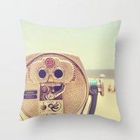 miles davis Throw Pillows featuring Miles and Miles by Melanie Alexandra Photography