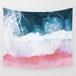 Aerial Coastal View Wall Tapestry
