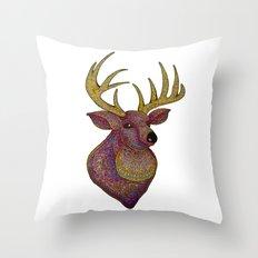 Darling, Detailed Deer Throw Pillow