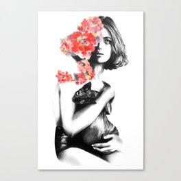 Natalia Vodianova // Fashion Illustration Canvas Print