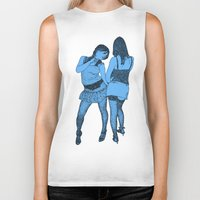 girls Biker Tanks featuring Girls by Skinny Gaviar