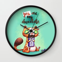 Chocolate addict Wall Clock