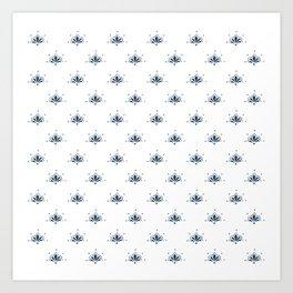 Blå Blomst Art Print