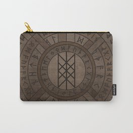 Web of Wyrd The Matrix of Fate- Wooden Texture Carry-All Pouch