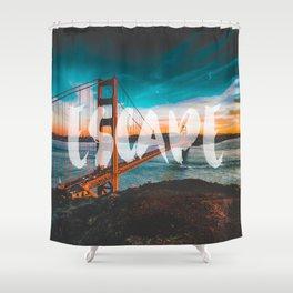 ESCAPE San Francisco Shower Curtain