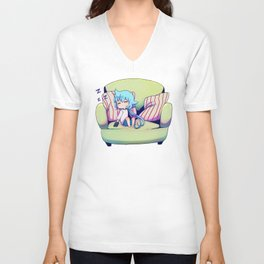 Sora Sleeping Unisex V-Neck